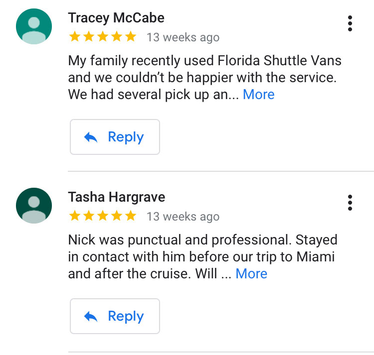 florida shuttle van review